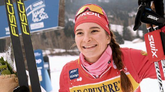 Наталья Непряева выиграла спринт на этапе Кубка мира в Германии