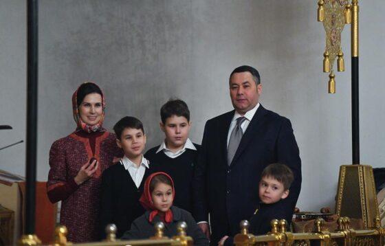 Губернатор Игорь Руденя стал отцом в пятый раз