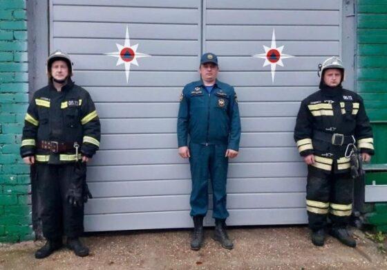 Под Тверью пожарные спасли женщину из горящего дома