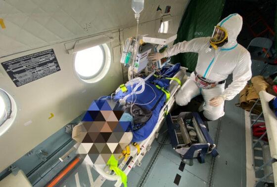 Из Вышнего Волочка в Тверь вертолетом доставили тяжелую пациентку