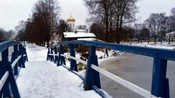 В Вышнем Волочке  в центре города закрыли мост