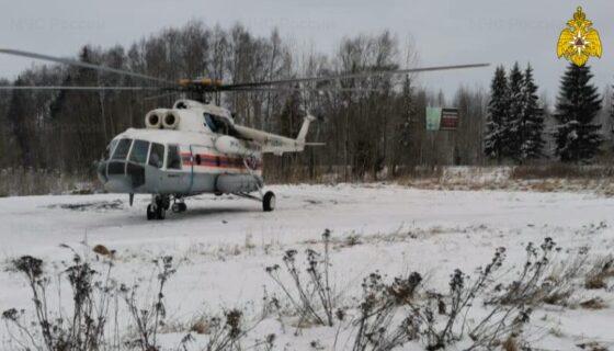 Из Твери в Удомлю вылетал вертолет санавиации