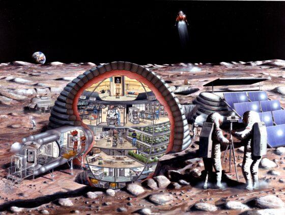 Тверской технический  университет разработал проект быстровозводимой  базы на Луне