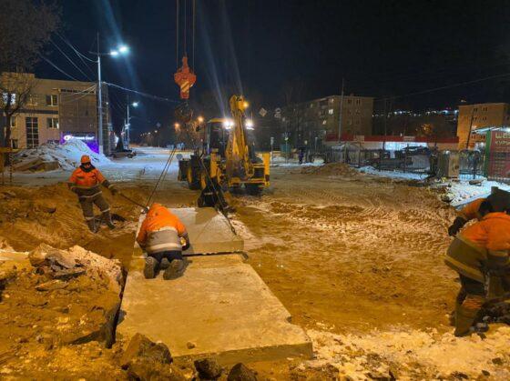 На проспекте Победы в Твери частично восстановили движение