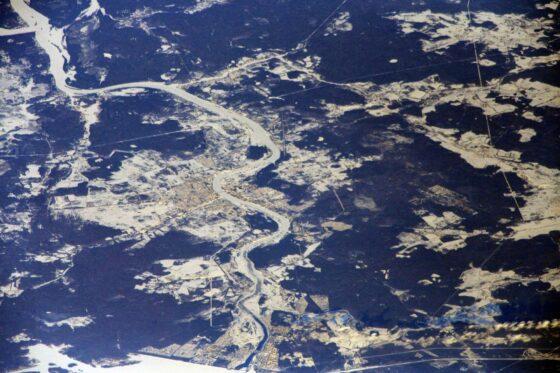 Космонавт Кудь - Сверчков  сфотографировал Кимры с борта МКС