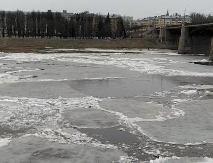 В Твери сняли на видео ледоход