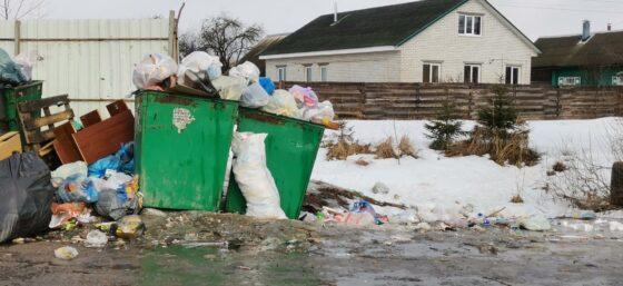 Жители Калининского района жалуются на горы мусора у контейнерных площадок