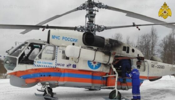 Из Кимр в Тверь на вертолете доставили тяжелобольного пациента