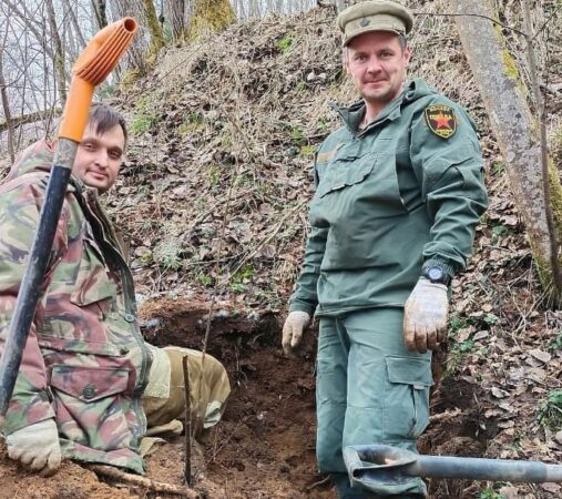 В Тверской области поисковики нашли трех безымянных красноармейцев