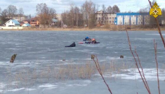 В Тверской области  спасли двух провалившихся под лед детей