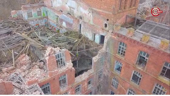 Опубликован ролик о разрушающейся вышневолоцкой фабрике с высоты птичьего полета