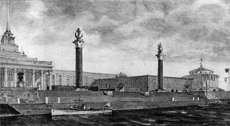 Опубликовано фото проекта Дома Совета в Калинине 1945 года