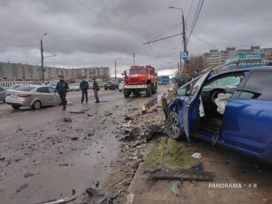 Опубликовано видео  серьезного столкновения в Твери