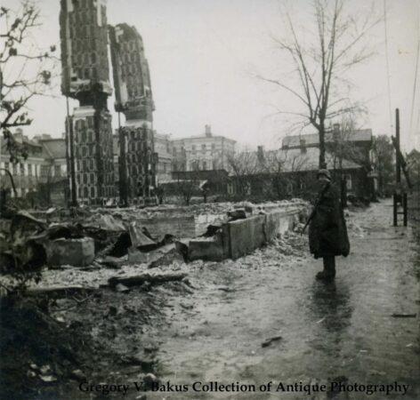 Опубликовано фото улицы Софьи Перовской времен немецкой оккупации