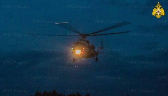 Ночью тяжелого пациента доставили на вертолете в Тверь