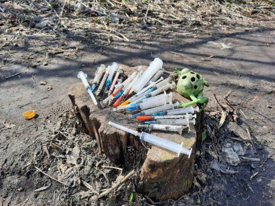 Тверичанка убрала  50 использованных шприцев во время субботника у детсадов