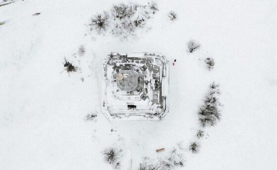 Опубликованы зимние фотографии калязинской колокольни