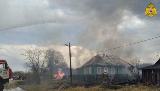 В Тверской области пожарные спасли целую деревню