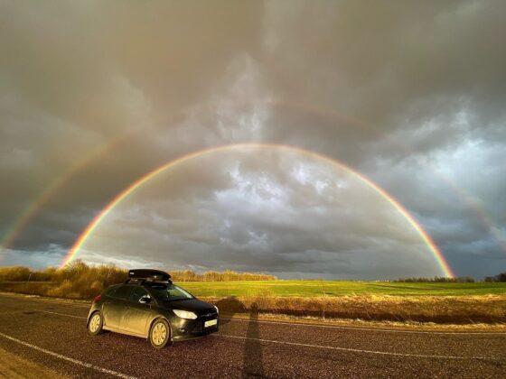 В Тверской области сняли на видео потрясающе красивую радугу