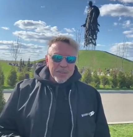 Гарик Сукачев доехал на машине до Ржевского мемориала
