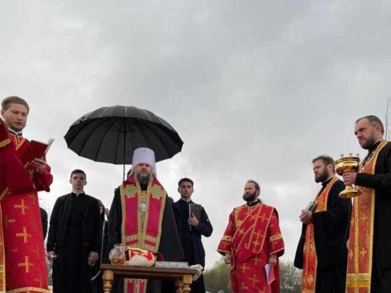 Храм Георгия Победоносца заложен на острове в Тверской области