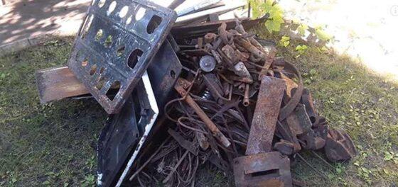 В Кушиново сборщик металлолома прихватил лишнее