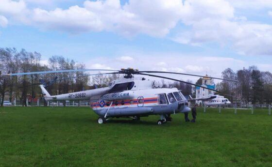 В Тверь на вертолете доставили женщину с тяжелым течением коронавирусной инфекции