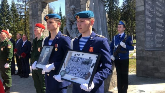 Останки солдата, погибшего на тверской земле, похоронили в Удмуртии