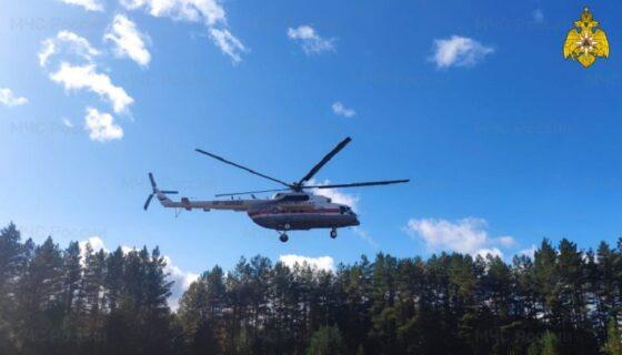 Вертолет МЧС вылетал на помощь пациентке Кимрской ЦРБ