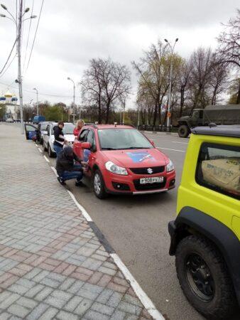 В Тверской области джипы развезут по районам знамена в честь Дня Победы