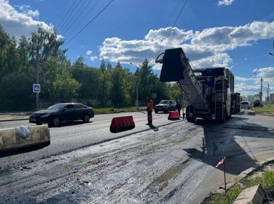 В двух районах Твери ведутся работы по ремонту дорог