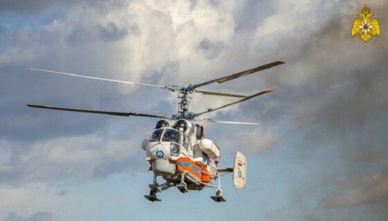 В Тверь вертолетом МЧС экстренно доставили пациента из Бежецка