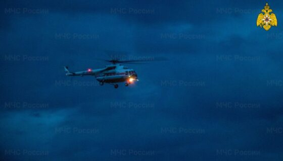 Вертолет МЧС вылетал на помощь пациенту Кимрской ЦРБ