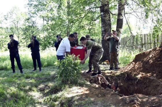В Тверской области перезахоронили останки красноармейцев  из  братских могил