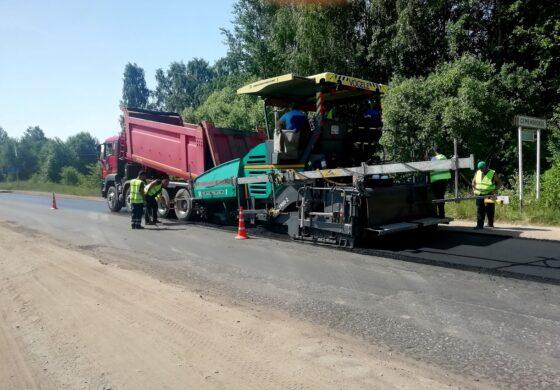 На дорогах Тверской области продолжается ремонтная кампания