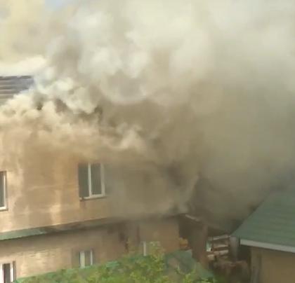В Твери загорелся дом в Литейном переулке