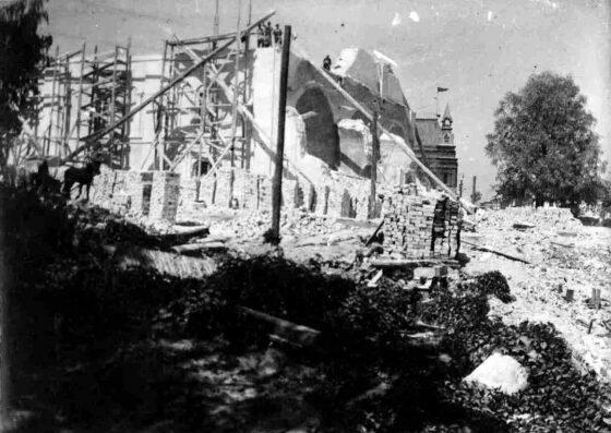 Опубликовано фото, как в Кимрах разобрали собор Покрова пресвятой Богородицы