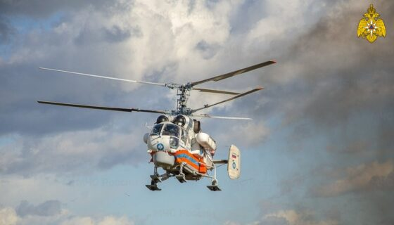 Тяжелого пациента срочно доставили на вертолете в Тверь