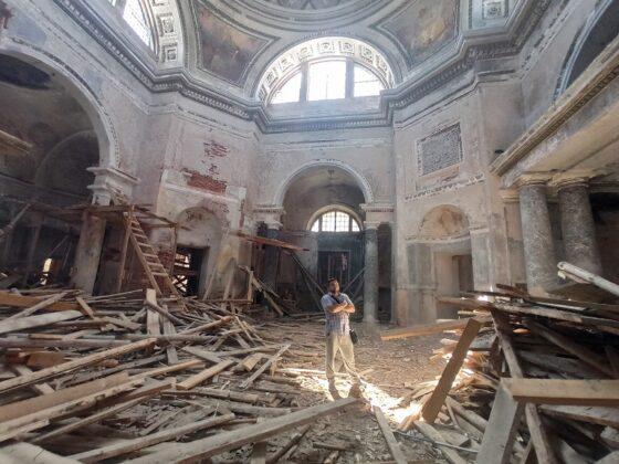 Впервые за долгое время старинный собор в Торжке освободили от лесов